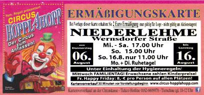 circus HOPPLAHOPP Berlin Niederlehme